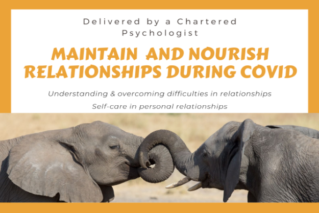 Maintain & Nourish Relationships during Covid - poster